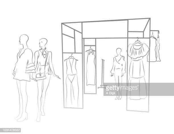 frauen kleidung darstellungsmodell - modisch stock-grafiken, -clipart, -cartoons und -symbole