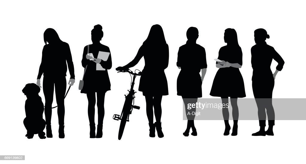 Vrouwen verschillen : Stockillustraties