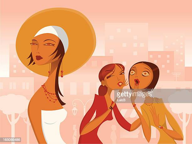 Women Gossiping about Another