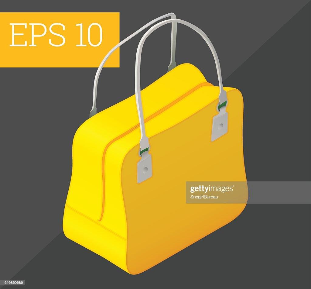 women handbag isometric vector illustration : Vector Art