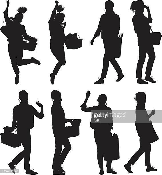 women holding vegetable basket - basket stock illustrations, clip art, cartoons, & icons