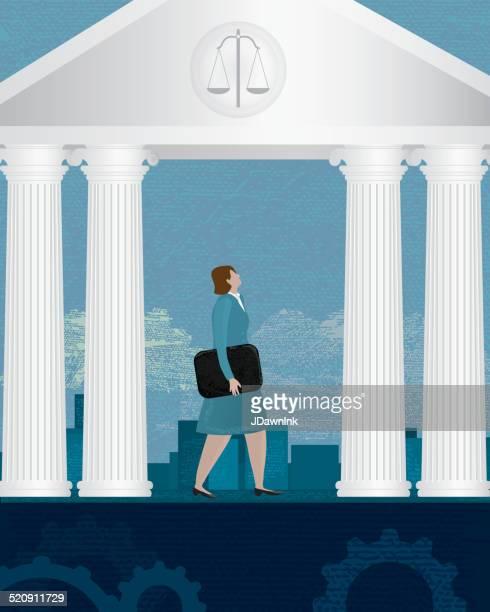 女性の法律のコンセプト - 法律関係の職業点のイラスト素材/クリップアート素材/マンガ素材/アイコン素材
