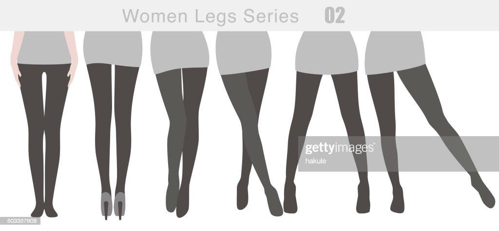 women legs series, vector