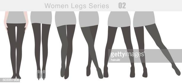 women legs series, vector