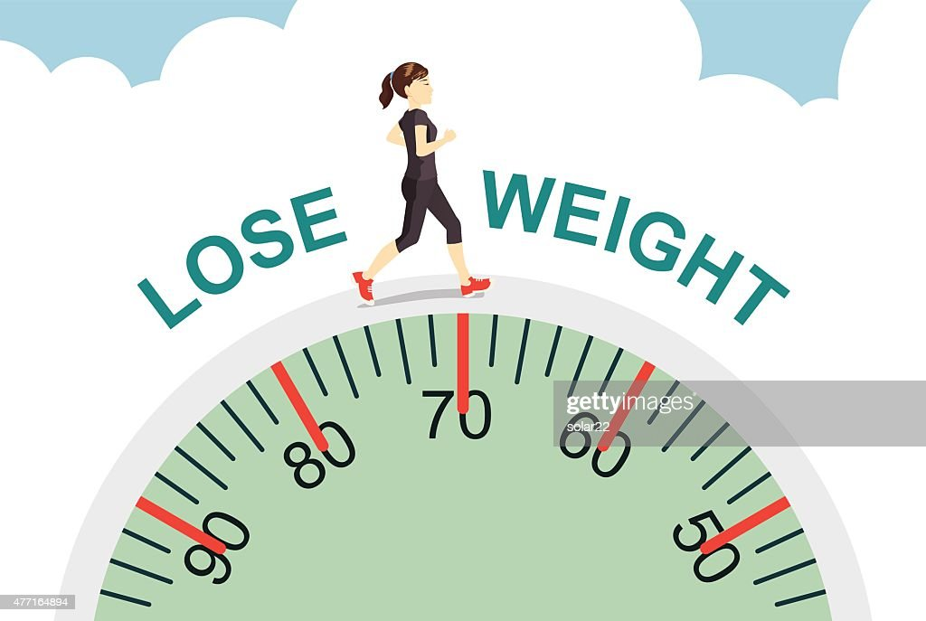 Women lose weight with jogging