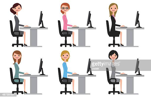 Women on the computer