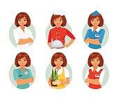 Women profession set
