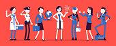 Women professions set