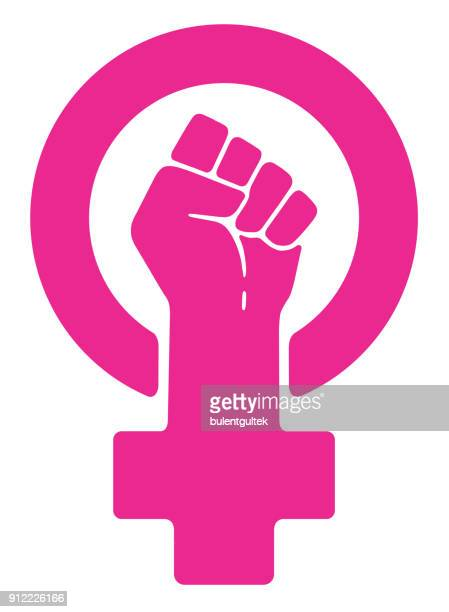 women resist symbol - protest against violence against women stock illustrations