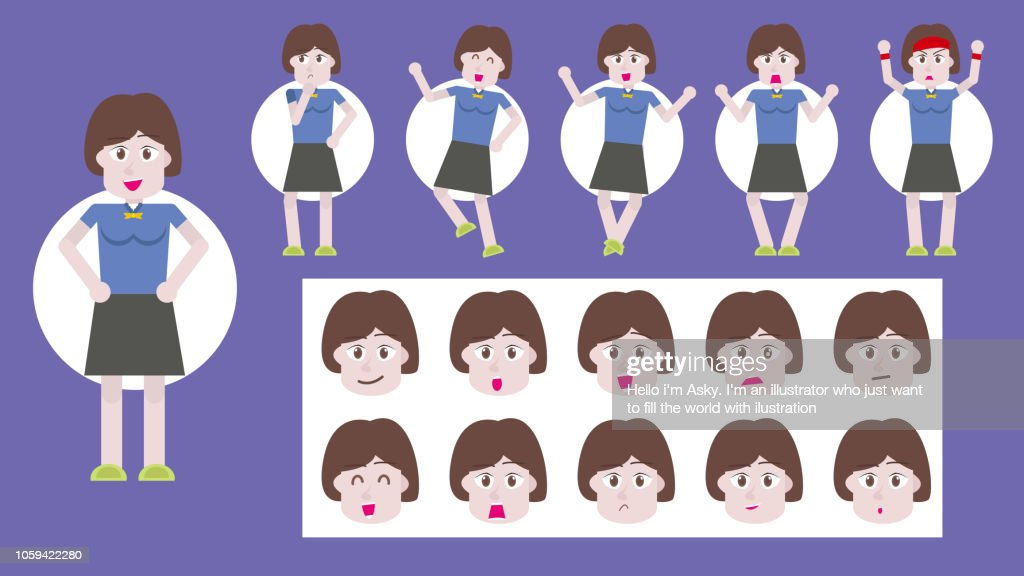 Women vector set