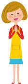 Women's apron rejoice