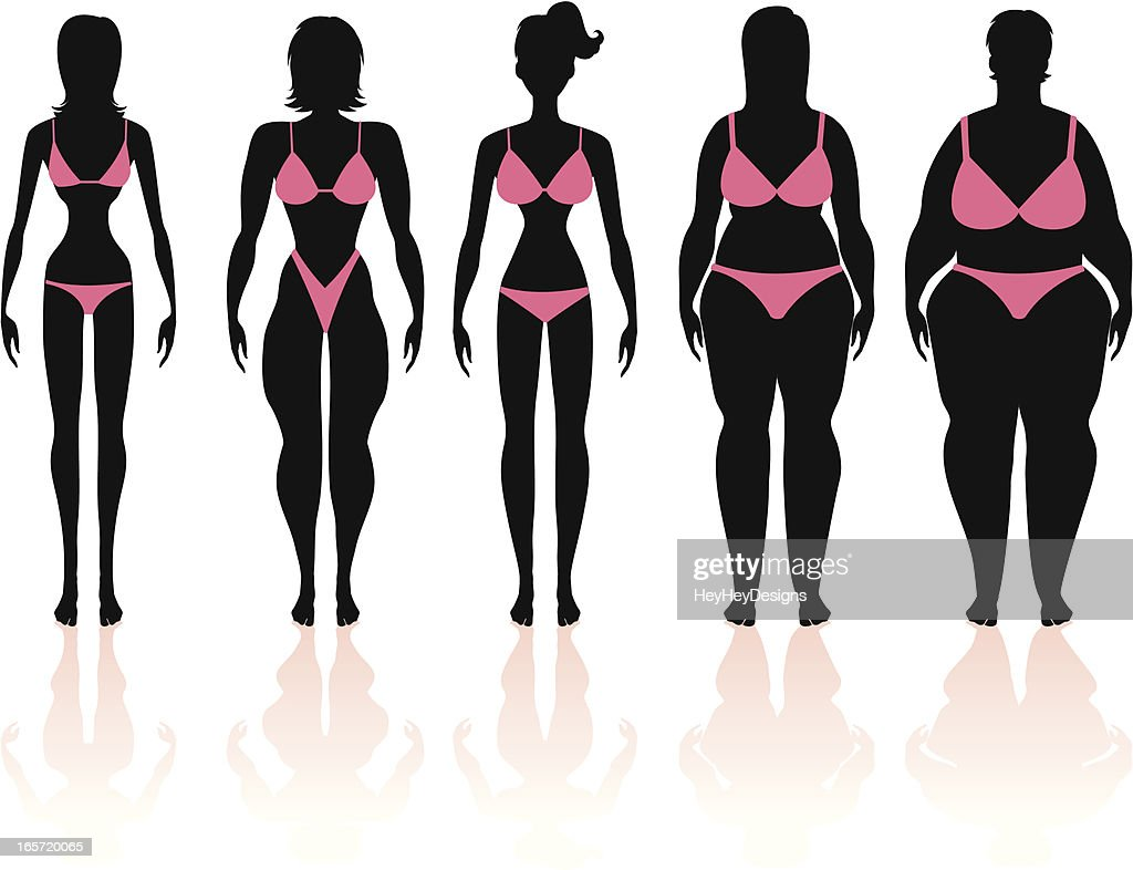 Women's Body Types Group 1 : Vector Art