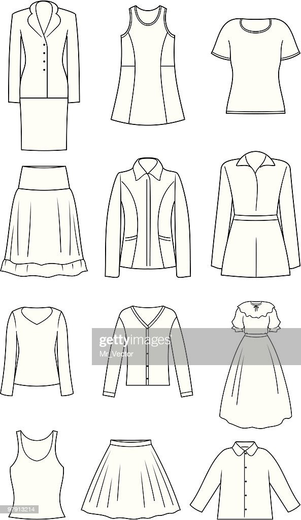 Women's Clothes - Vector Illustration