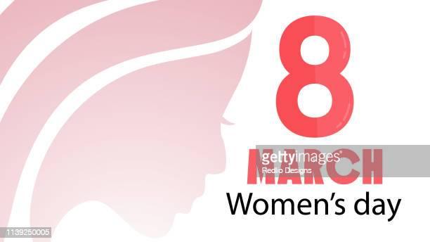 stockillustraties, clipart, cartoons en iconen met dag van de vrouw achtergrond - internationale vrouwendag