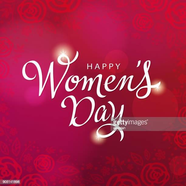 stockillustraties, clipart, cartoons en iconen met vrouwen dag kalligrafie - internationale vrouwendag