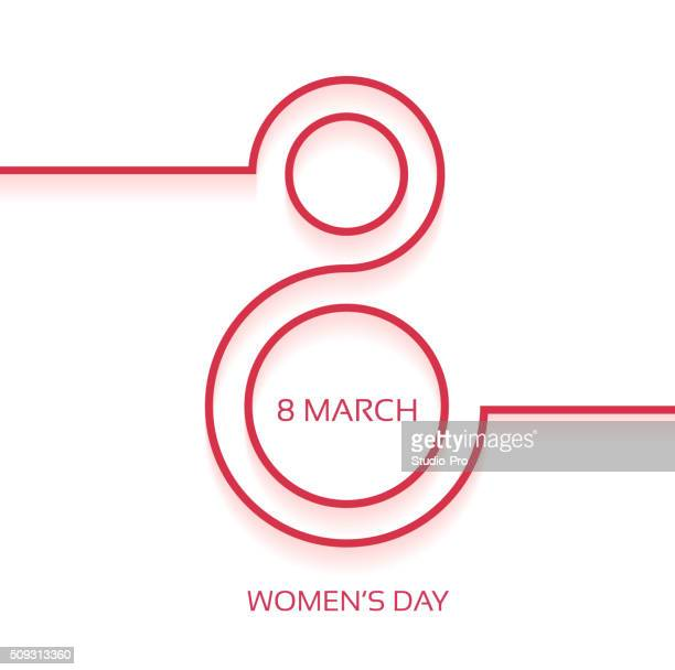 women's day design background - number 8 stock illustrations