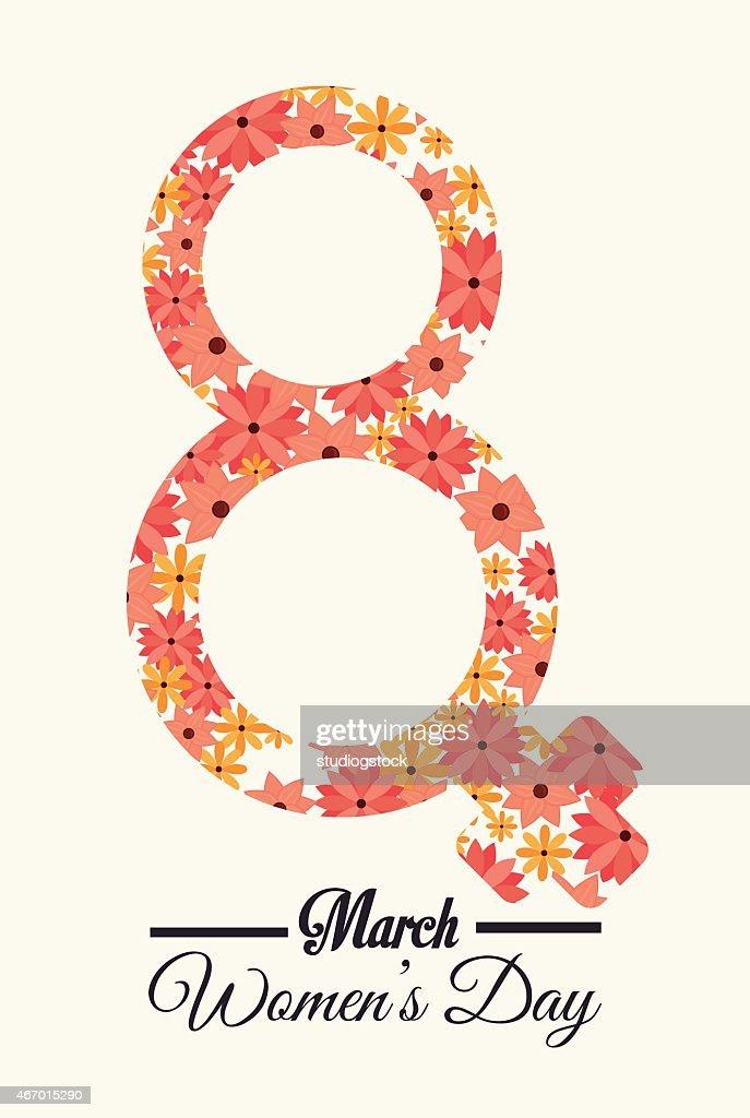Womens day design, vector illustration.