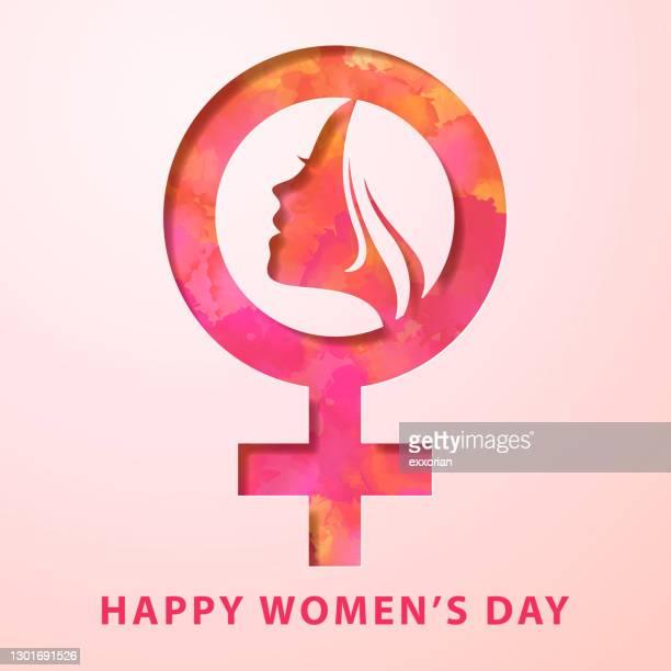 ilustrações de stock, clip art, desenhos animados e ícones de women's day female gender symbol - questão da mulher