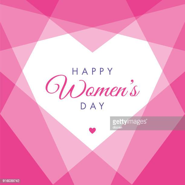 women's day geometric heart - illustration - women's issues stock illustrations, clip art, cartoons, & icons