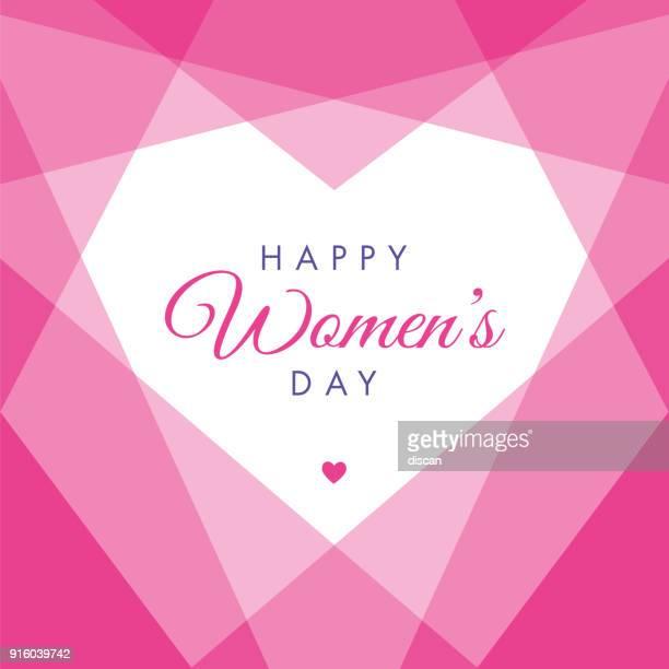 ilustrações de stock, clip art, desenhos animados e ícones de women's day geometric heart - illustration - dia internacional da mulher