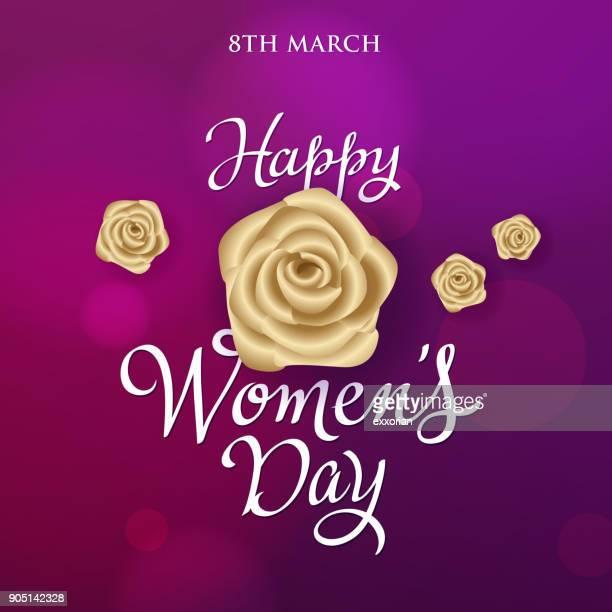Women's Day Golden Roses