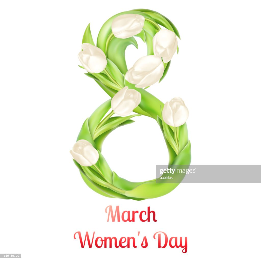Womens Day Greeting Card Eps 10 Vector Art Getty Images