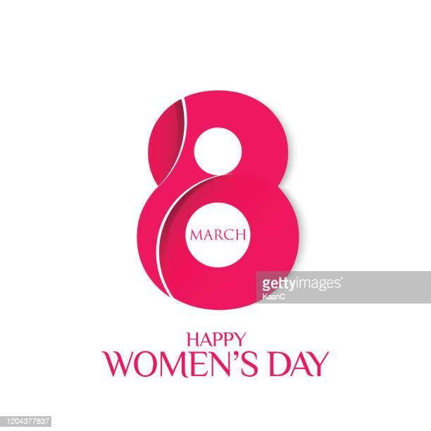 stockillustraties, clipart, cartoons en iconen met women's day wenskaart voorraad illustratie. 8 maart dag van vrouwen - internationale vrouwendag