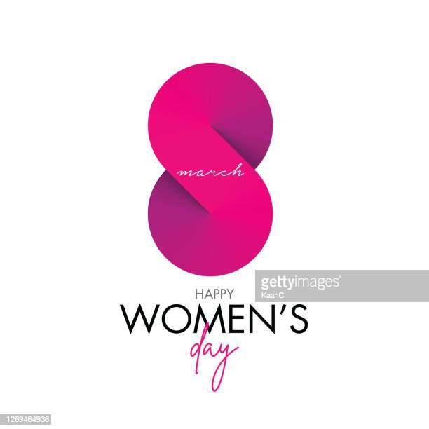 women's day greeting card stock illustration. 8 march day of women - international womens day stock illustrations