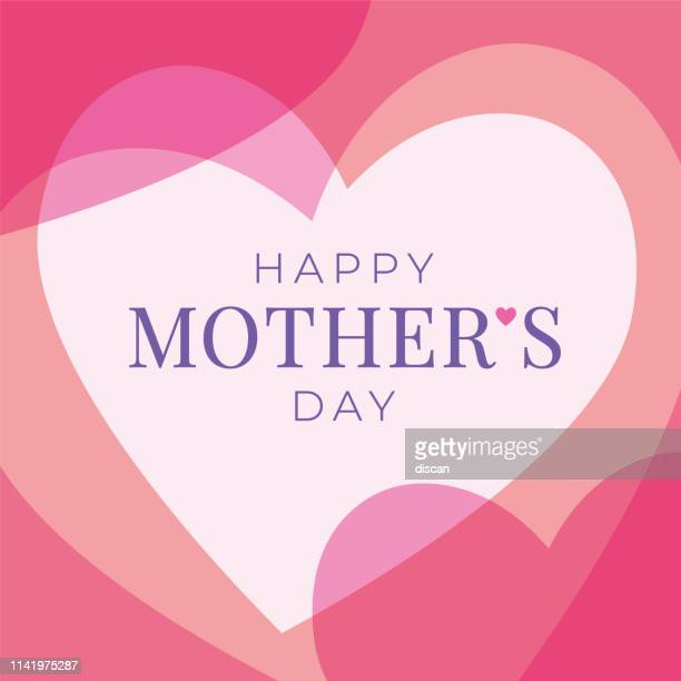 women's day greeting card with hearts. - heart shape stock illustrations
