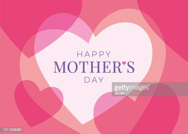 women's day greeting card with hearts. - mothers day stock illustrations