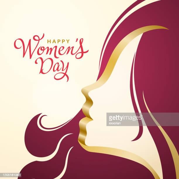 ilustrações de stock, clip art, desenhos animados e ícones de women's day head - dia internacional da mulher