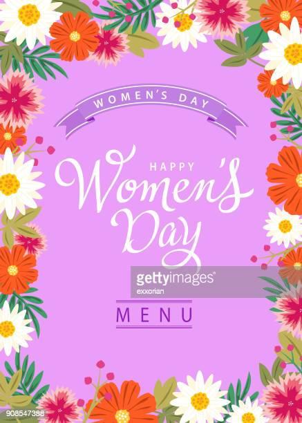 stockillustraties, clipart, cartoons en iconen met vrouwen dagmenu - internationale vrouwendag