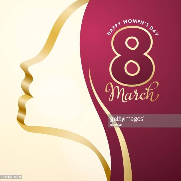 stockillustraties, clipart, cartoons en iconen met vrouwendag op 8 maart - internationale vrouwendag