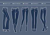 Women's denim fits