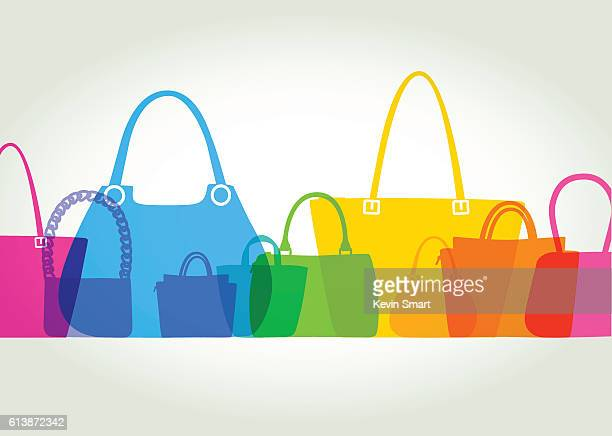 illustrazioni stock, clip art, cartoni animati e icone di tendenza di womens fashion bags - borsetta da sera