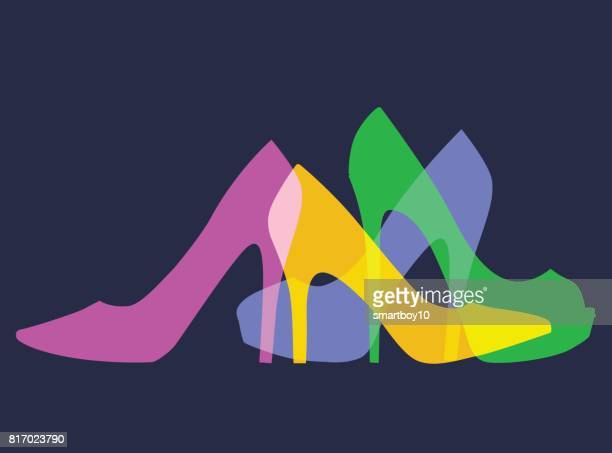 women's fashion shoes - footwear stock illustrations, clip art, cartoons, & icons
