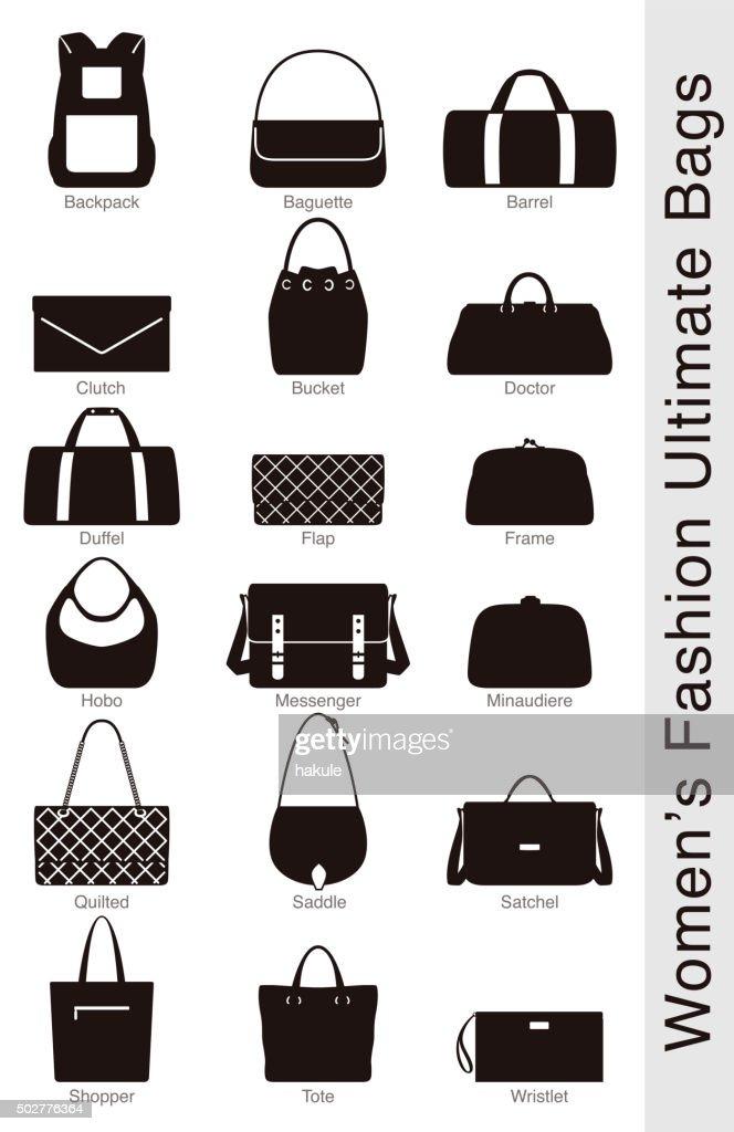 women's fashion massima Borse, vettoriale : Illustrazione stock