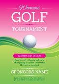 Womens golf poster