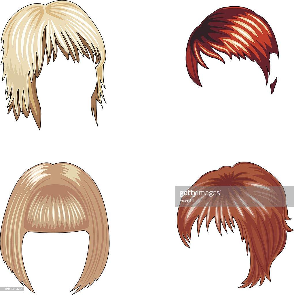 women's hairstyles set
