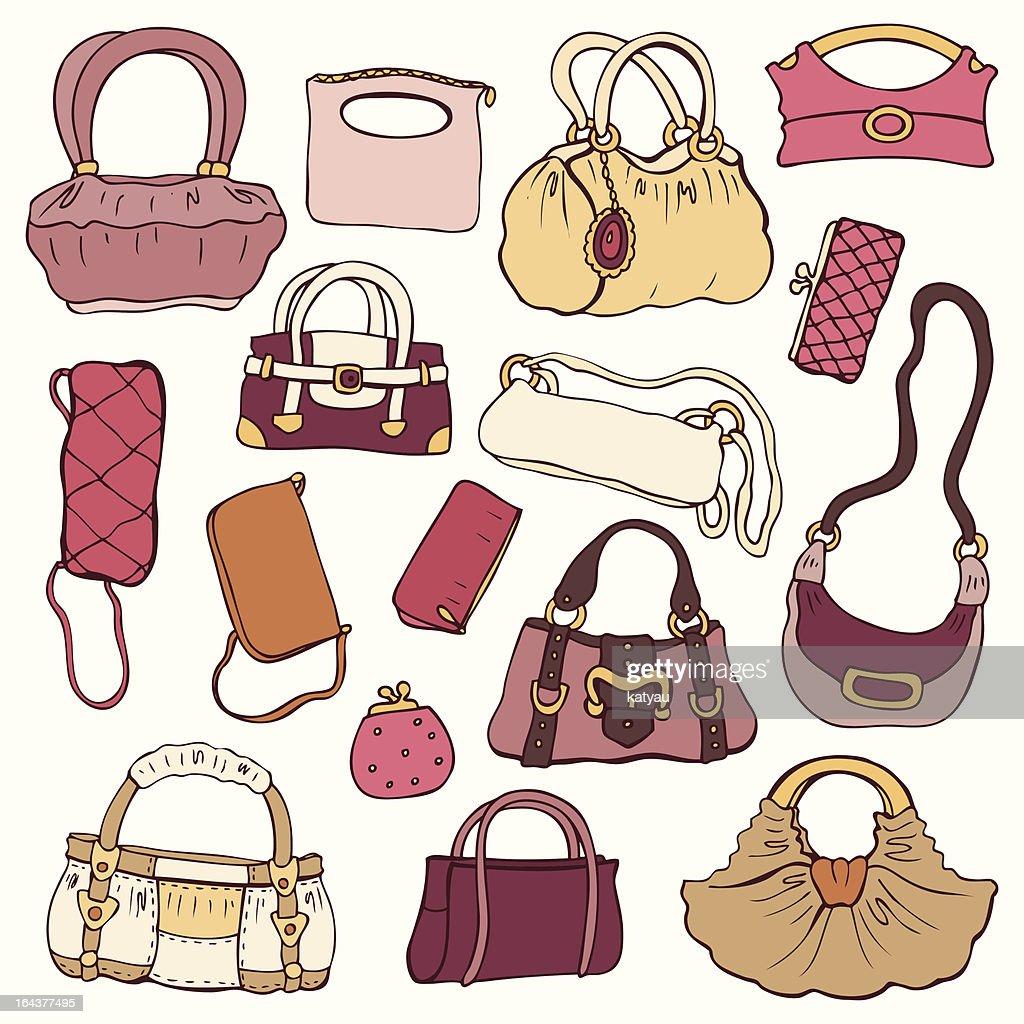 Women's handbags. Vector Set.