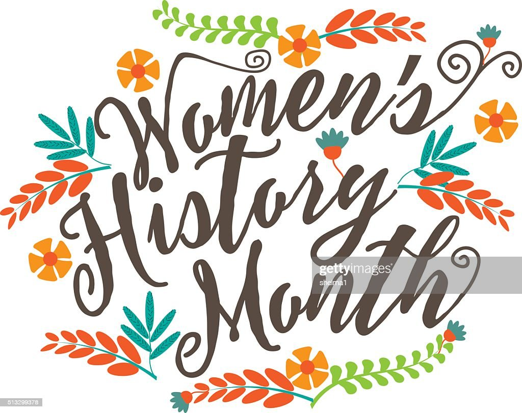 Women's history month design.