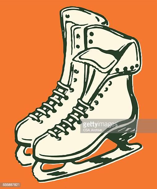 女性のアイススケート