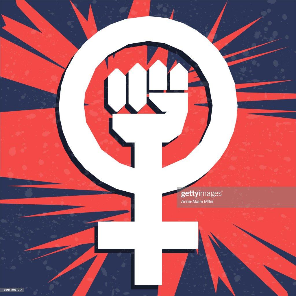 Women's issues - feminist symbol