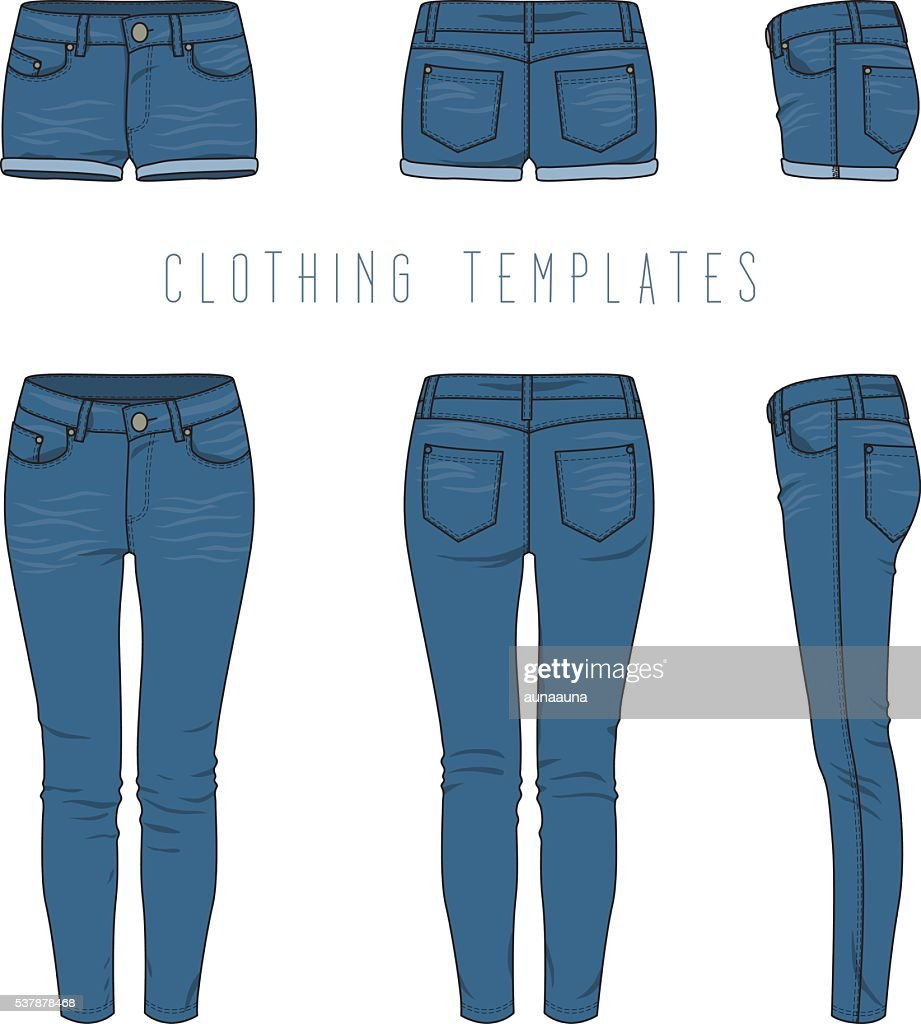 Women's jeans and shorts.