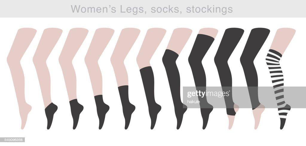 Women's Legs, socks, stockings, vector illustration
