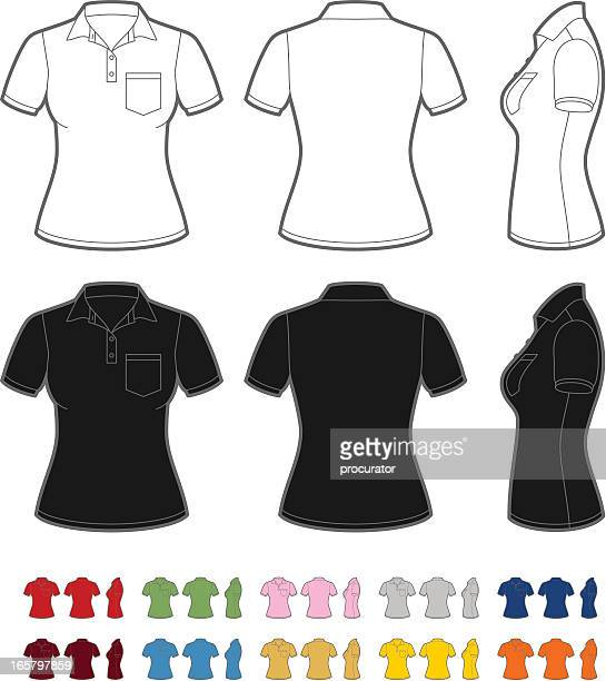 women's polo shirt - women's issues stock illustrations, clip art, cartoons, & icons