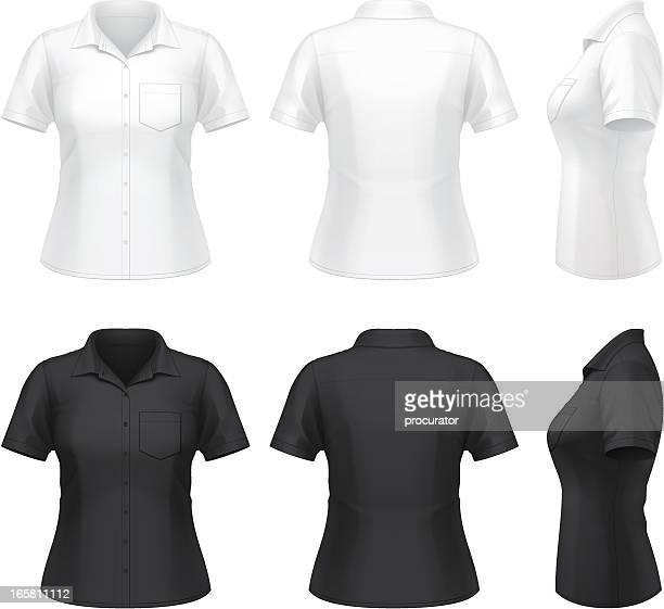 Women's short sleeve dress shirt