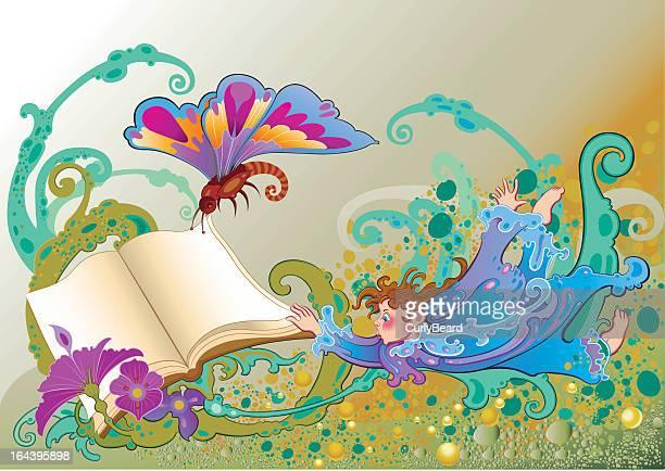 ilustraciones, imágenes clip art, dibujos animados e iconos de stock de pregunto libro - libros volando