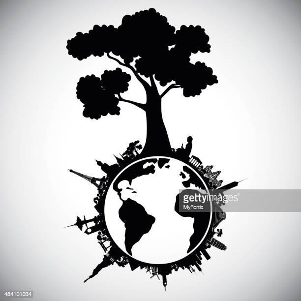 Wonder place around the world under the tree