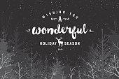 Wonderful holiday season